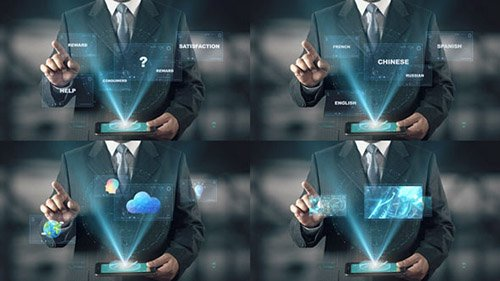 Hologram Businessman Screens - Project for After Effects (Videohive)