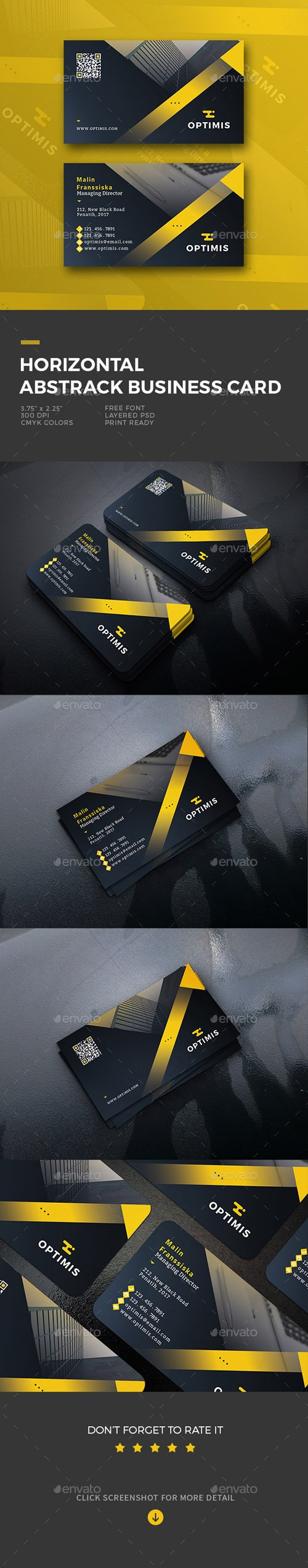 Horizontal Abstract Business Card 20042071