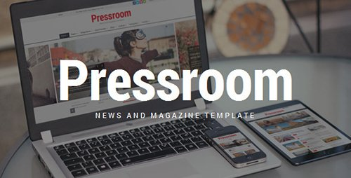 ThemeForest - Pressroom v1.7 - Responsive News and Magazine Template - 9066845