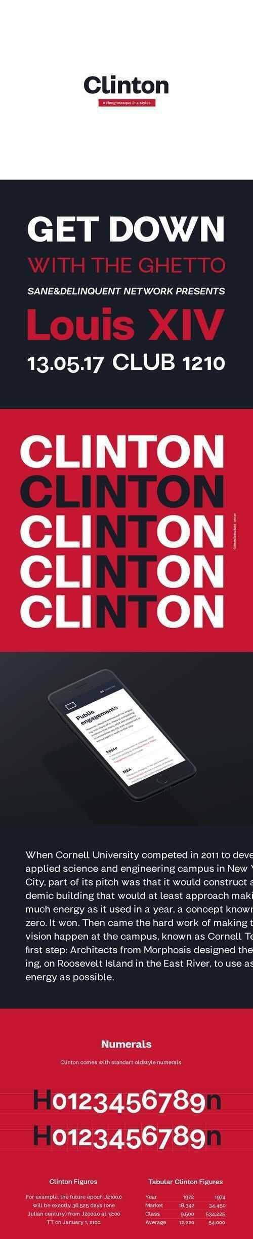 Clinton Typefamily