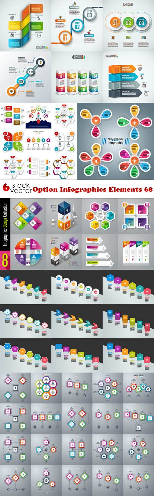 Vectors - Option Infographics Elements 68