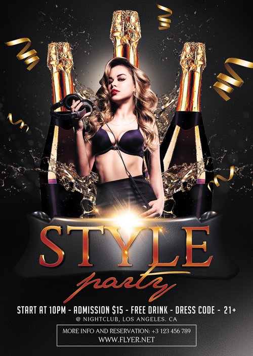 Premium A5 Flyer Template - Style Party