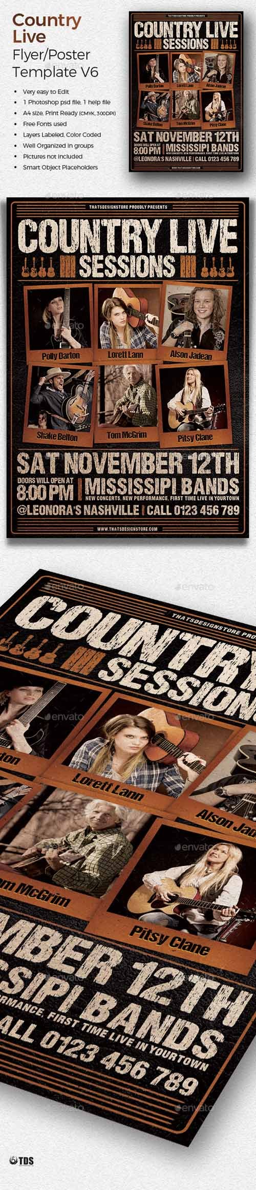 Country Live Flyer Template V6 20038127