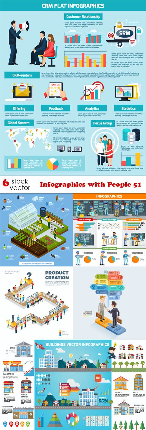 Vectors - Infographics with People 51