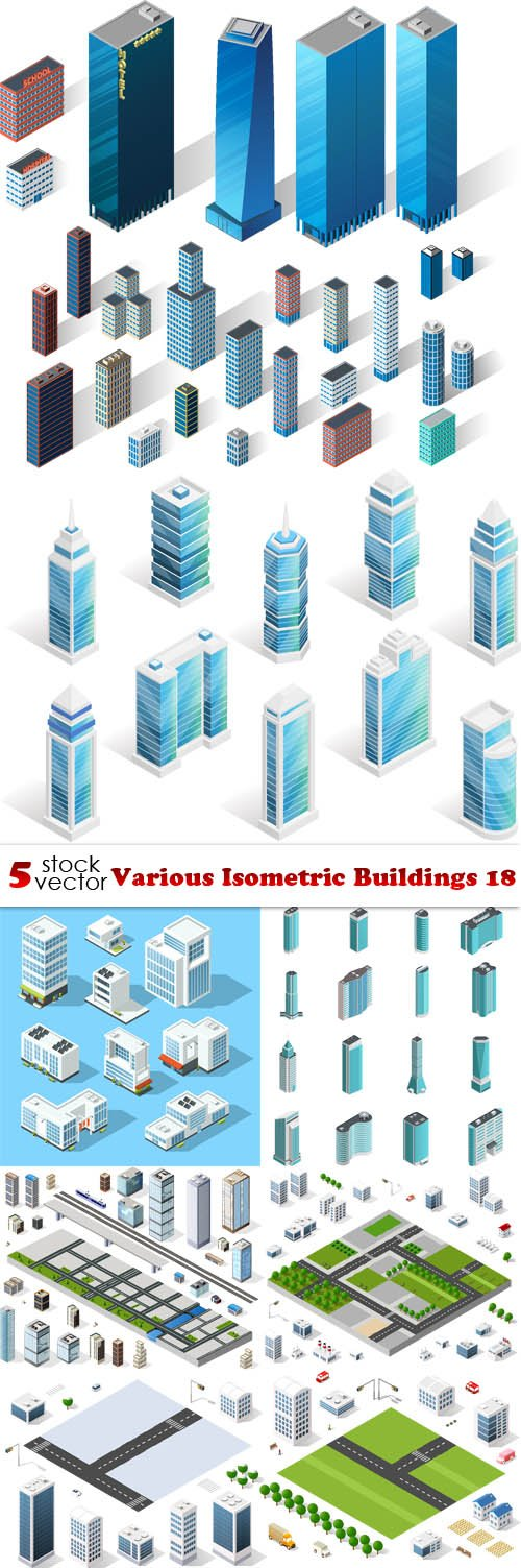 Vectors - Various Isometric Buildings 18