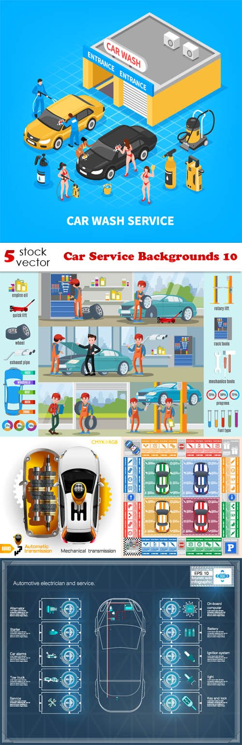 Vectors - Car Service Backgrounds 10
