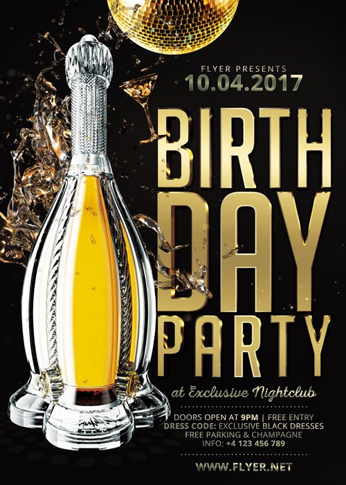 Premium A5 Flyer Template - Birthday Party