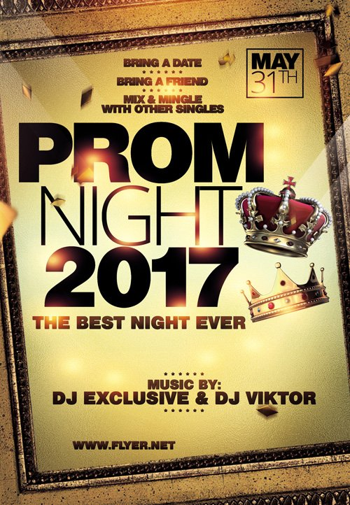 Premium A5 Flyer Template - Prom Night