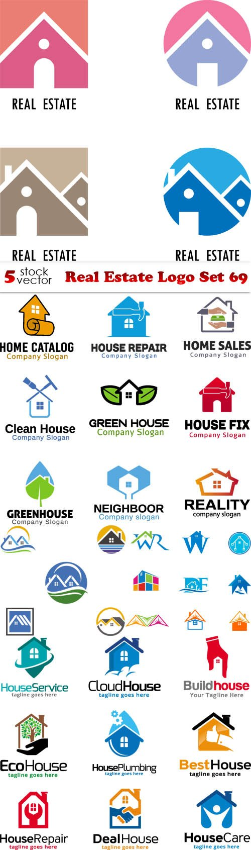 Vectors - Real Estate Logo Set 69
