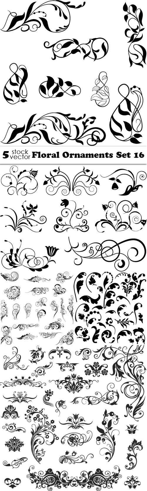 Vectors - Floral Ornaments Set 16