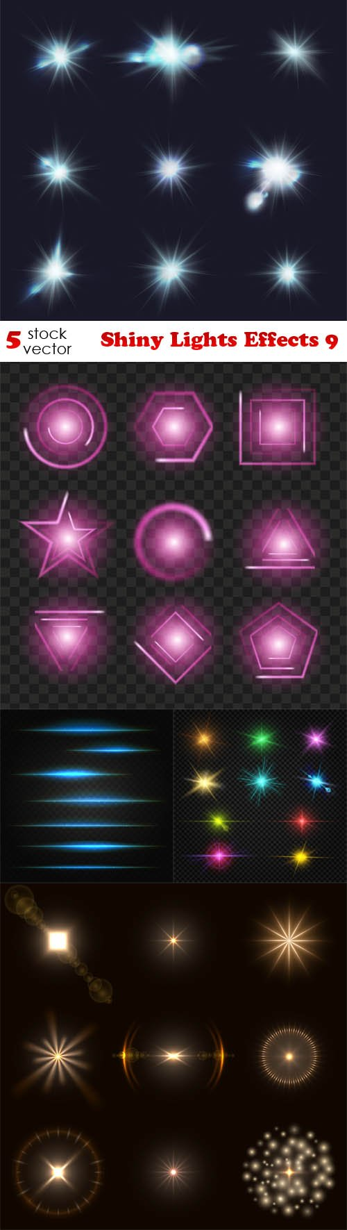Vectors - Shiny Lights Effects 9