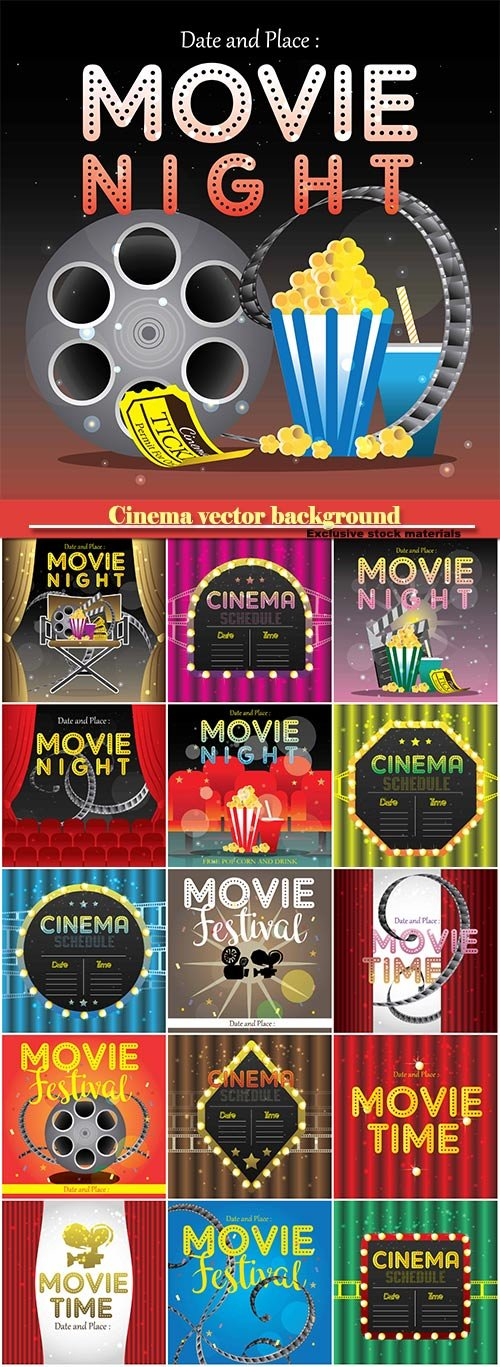 Cinema vector background
