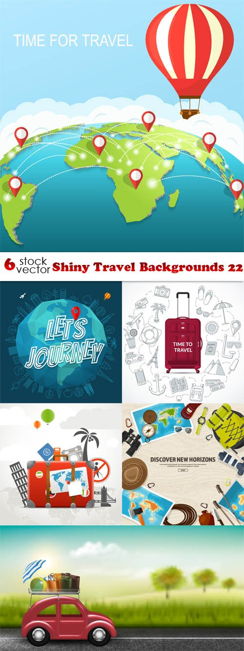 Vectors - Shiny Travel Backgrounds 22