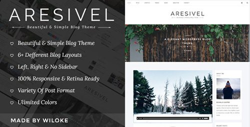 ThemeForest - Aresivel v1.3.7 - A Responsive WordPress Blog Theme - 12238065