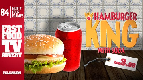 Fast Food Restaurant TV Commercial - Project for After Effects (Videohive)