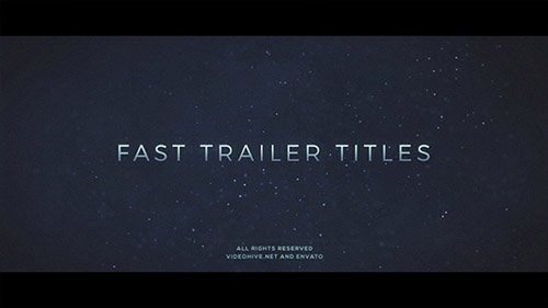 Fast Trailer Teaser - Project for After Effects (Videohive)