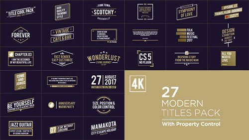 Titles Pack 19642640 - Project for After Effects (Videohive)