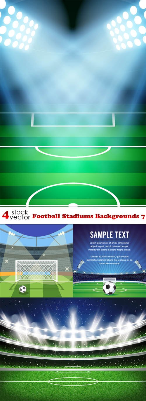 Vectors - Football Stadiums Backgrounds 7