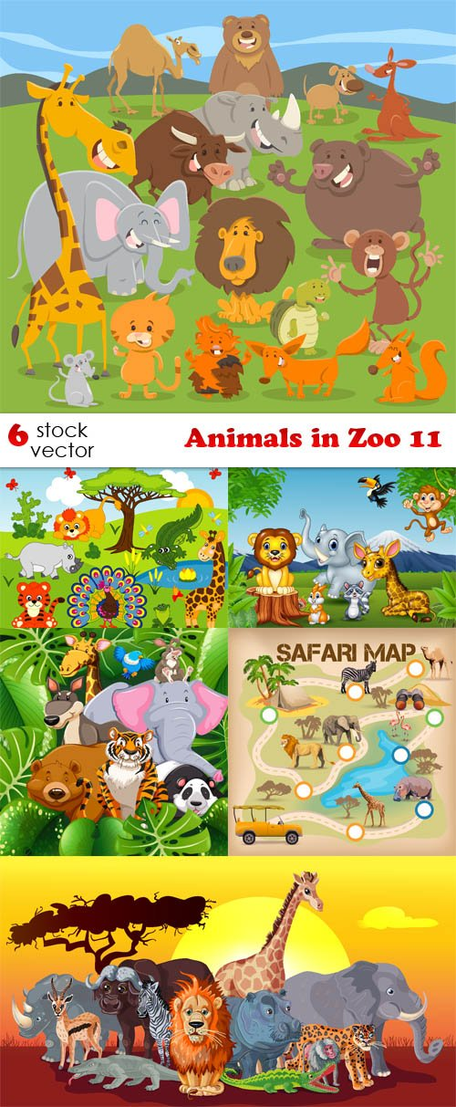 Vectors - Animals in Zoo 11