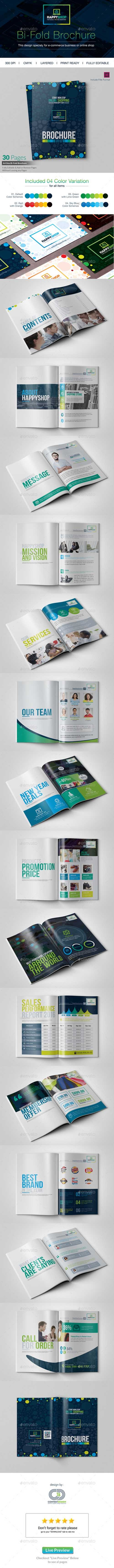 E-Commerce Promotional Bi-Fold Brochure 14464632