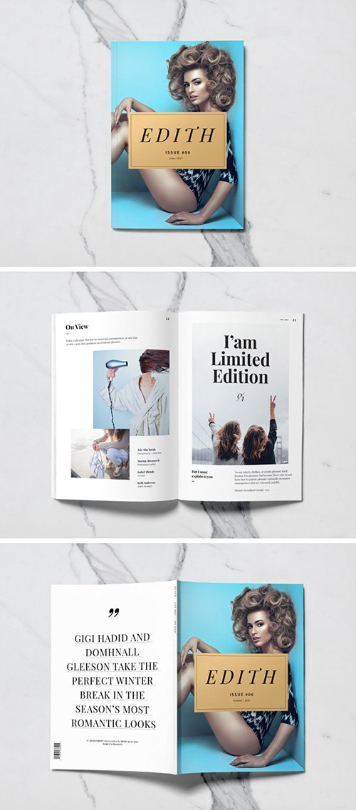 PSD Mock-Up - A5 Magazine 2017