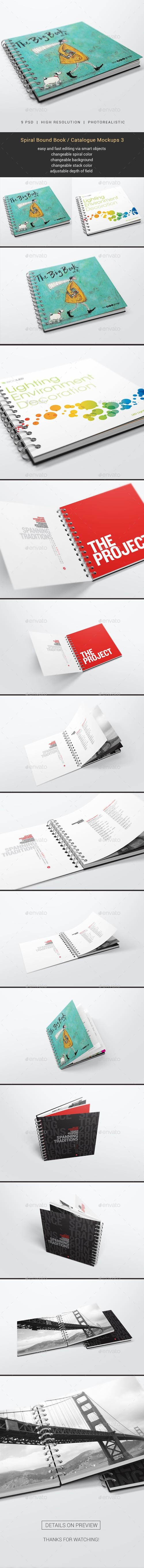 GR -  Spiral Bound Book / Catalogue Mockups 3 20132524
