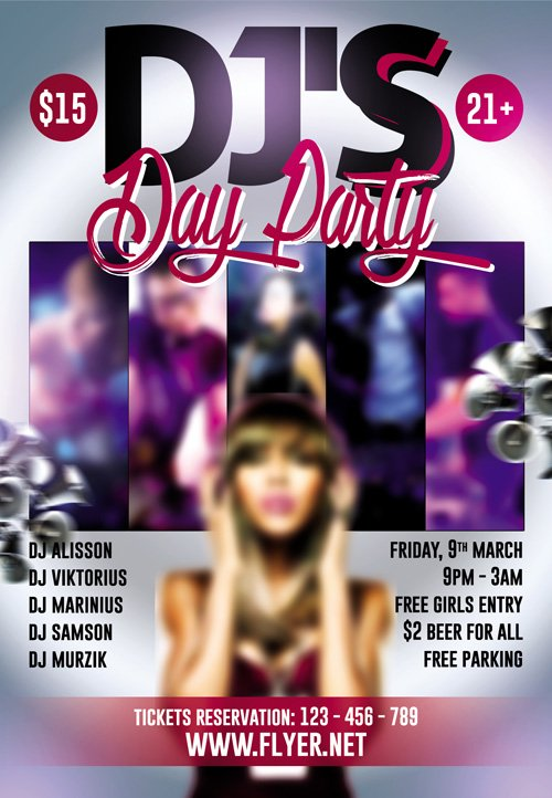 Premium Flyer Template - DJ Day Party