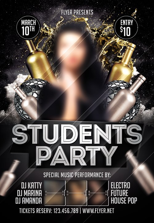 Premium Flyer Template - Students Night