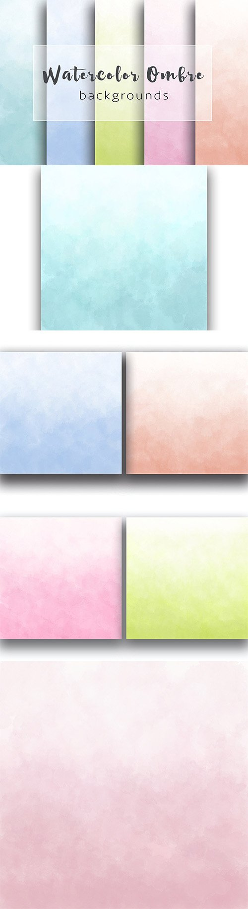 Colored ombre watercolor backgrounds - CM 362810