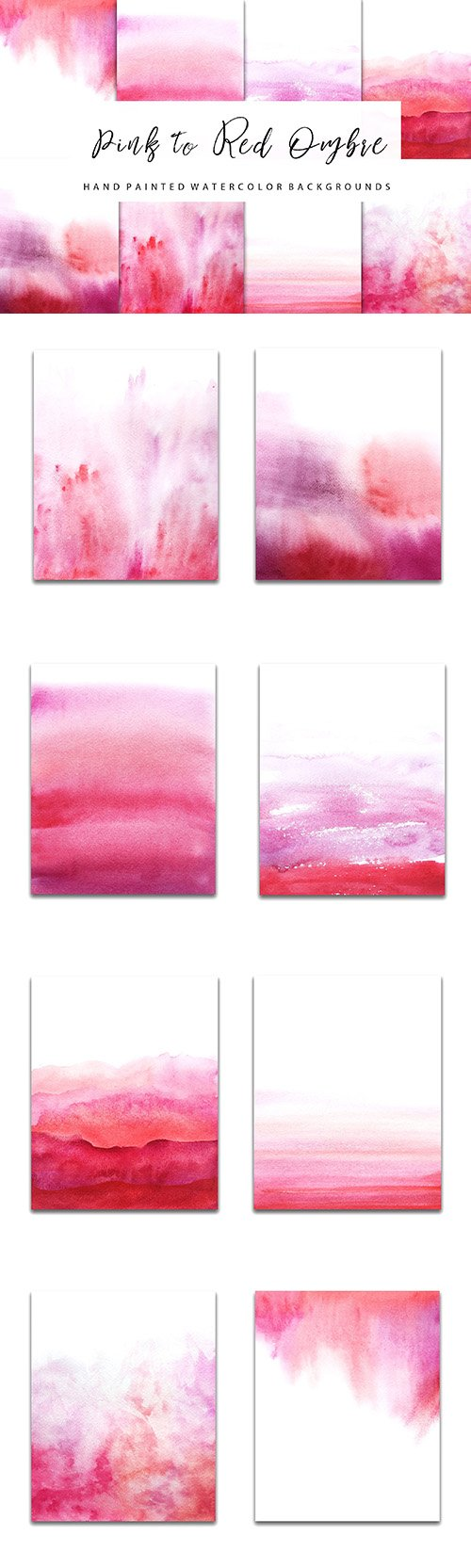 red watercolor ombre backgrounds - CM 827829
