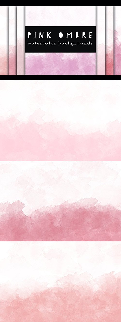 pink ombre watercolor backgrounds - CM 395608