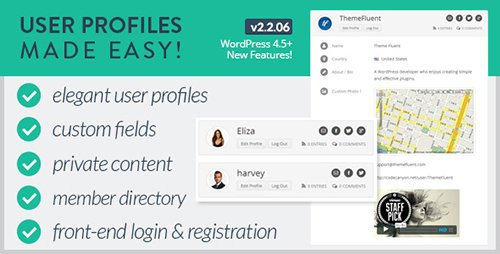 CodeCanyon - User Profiles Made Easy v2.2.06 - WordPress Plugin - 4109874