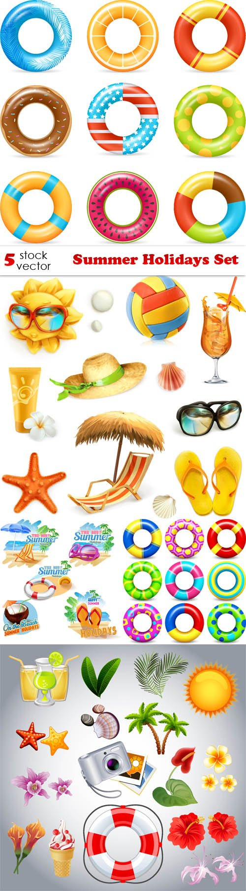 Vectors - Summer Holidays Set