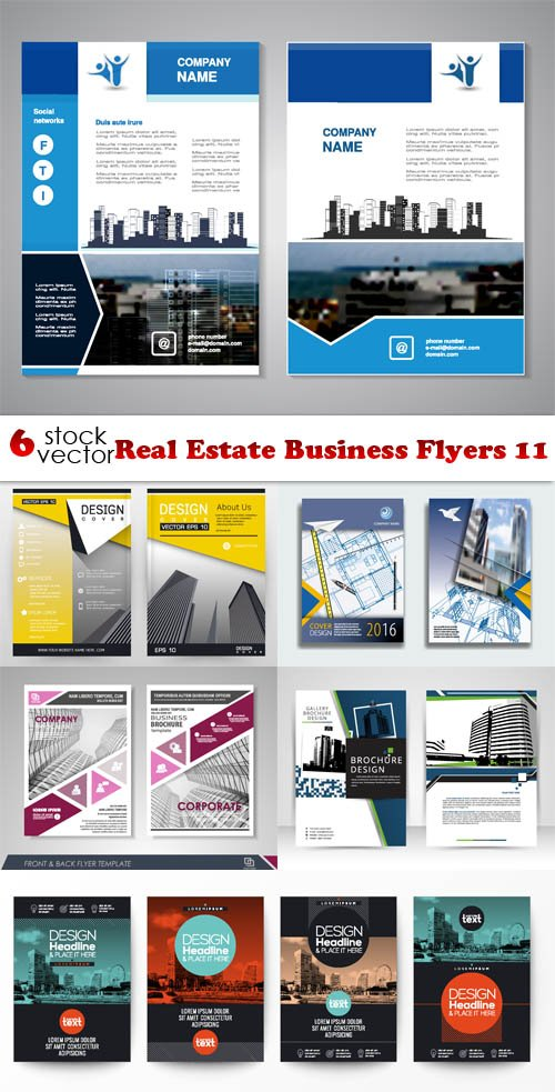 Vectors - Real Estate Business Flyers 11