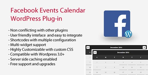 CodeCanyon - Facebook Events Calendar WordPress Plugin v4.9.6 - 9855120