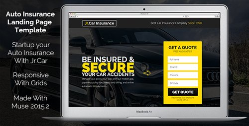 ThemeForest - Jr. Auto Insurance v1.0 - Landing Page - Responsive Muse Template - 20032267