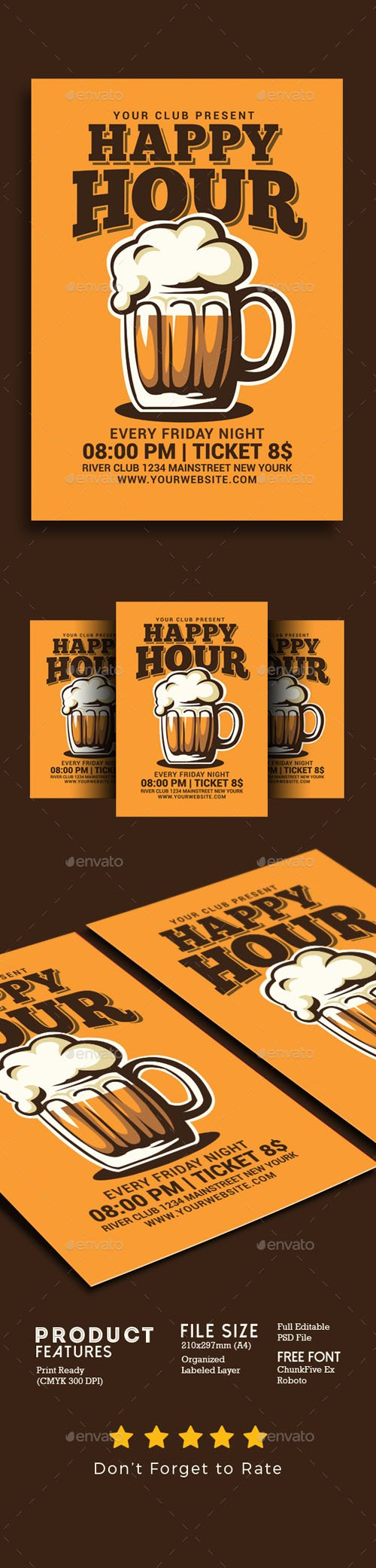 Happy Hour Beer Flyer 20160009