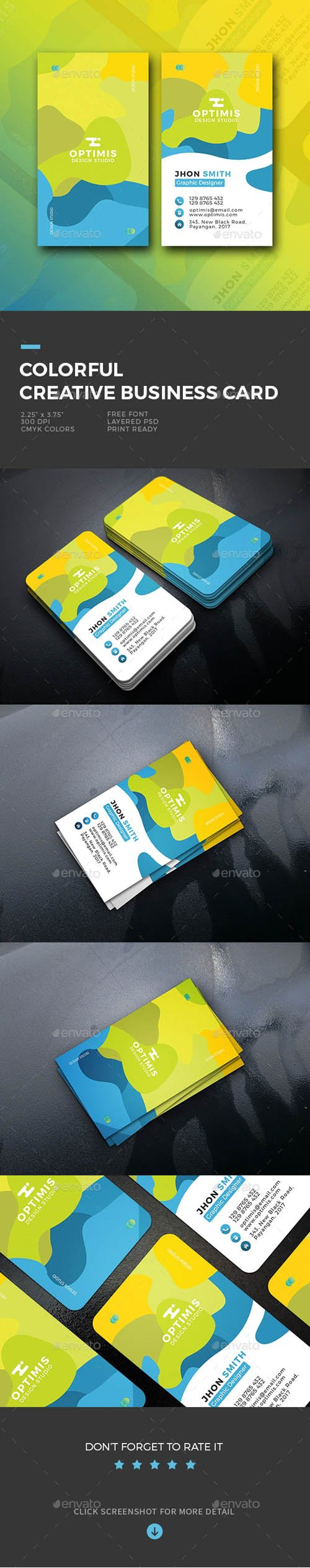 GR - Colorful Creative Business Card 20121184