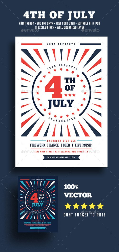 4th Of July Flyer 20144341
