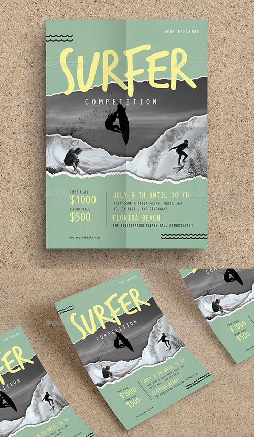 Surf Competition Flyer 20169567