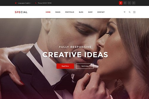 Onepage Business & Corporate Psd Template