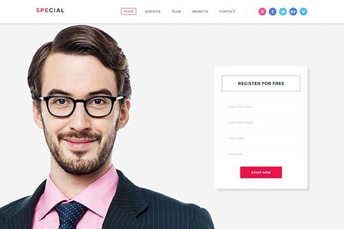 finance Landing Page Psd Template