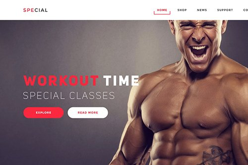 Gym and Fitness Landing Page Psd Template