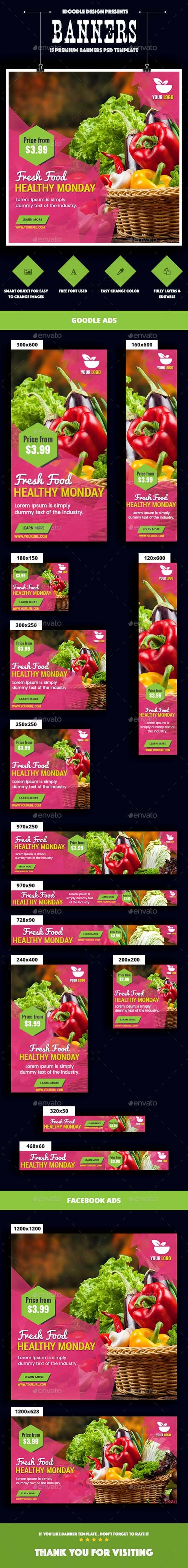 Food & Restaurant Banners Ad 20152854
