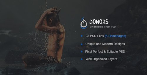 ThemeForest - Donors v1.0 - Multipurpose Non-profit PSD Template - 19828932