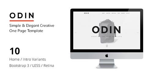 ThemeForest - ODIN v1.5 - Simple & Easy Creative One Page Template - 10764555