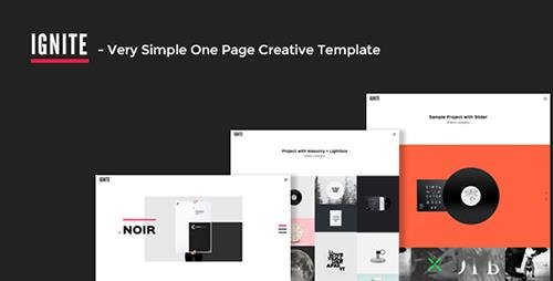 ThemeForest - IGNITE v1.0 - Very Simple One Page Creative Template - 12311375