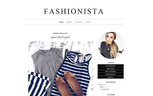 Fashionista Blogger Template - CM 431823