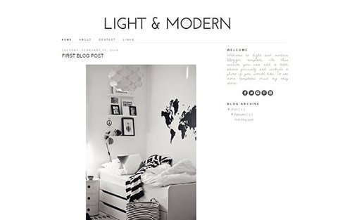 Light and Modern Blogger Template - CM 431841