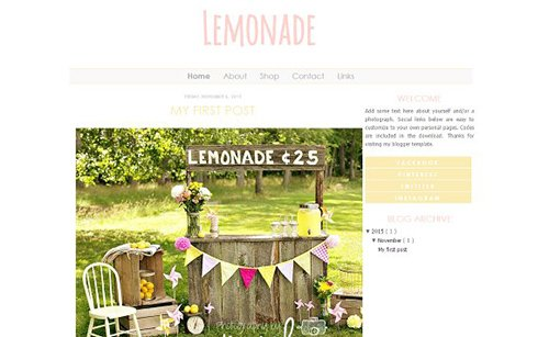 Lemonade Blogger Template - CM 431591